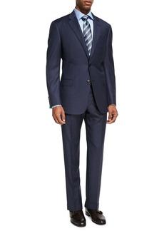 Armani Mini Box-Check Wool Two-Piece Suit