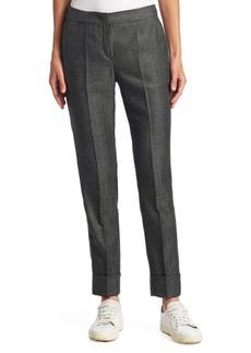 Armani Mini Herringbone Cuffed Pants