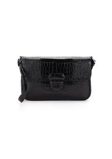 Armani Mini Leather Embossed Crossbody Bag