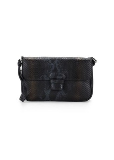Armani Mini Snakeskin Leather Crossbody Bag