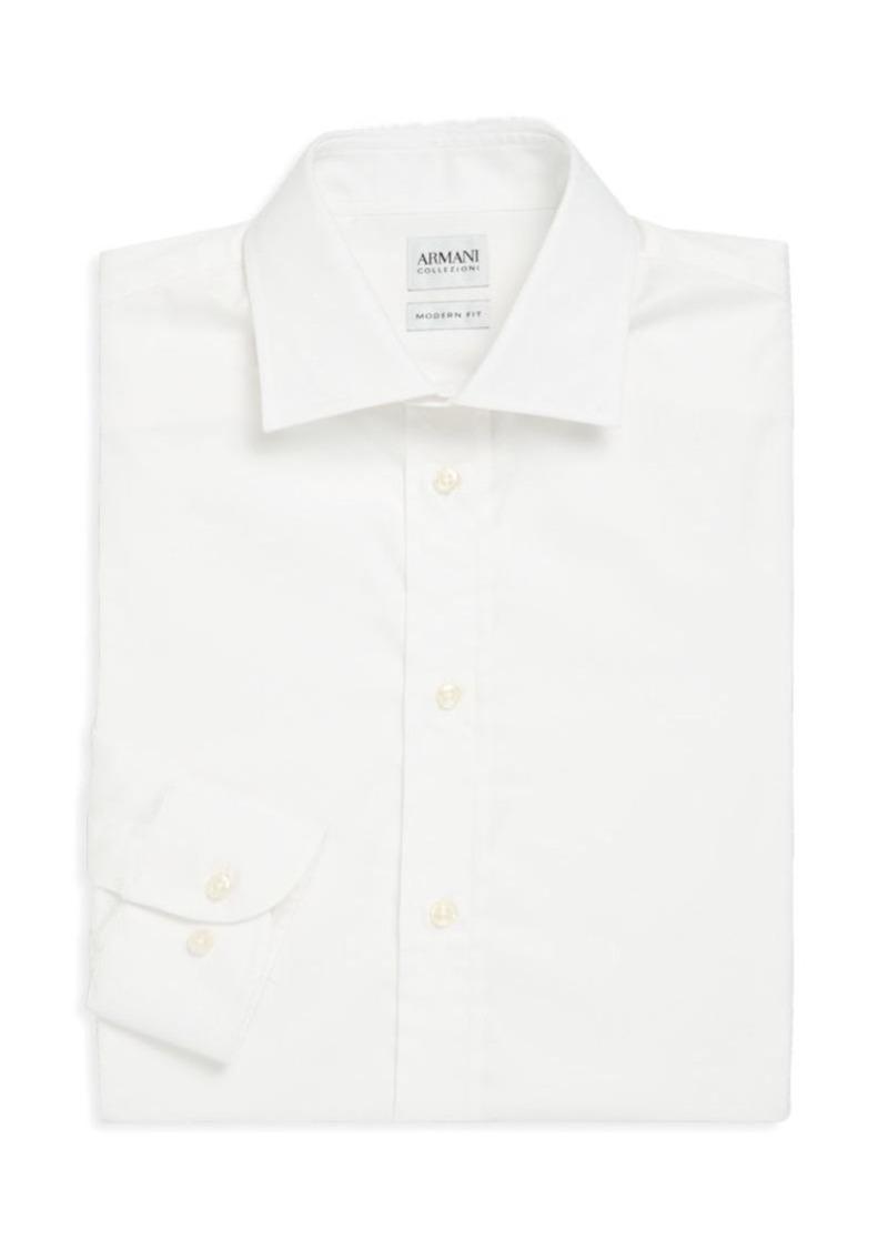 Armani Collezioni Modern-Fit Solid Dress Shirt