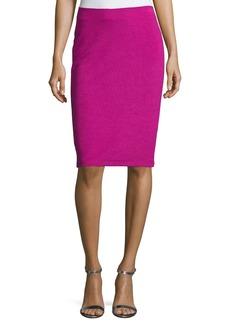 Armani Ottoman Ribbed Jersey Pencil Skirt