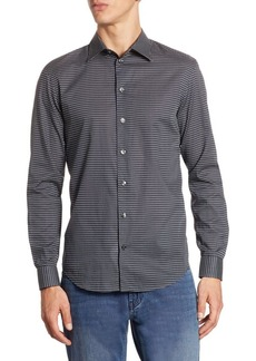 Armani Patterned Cotton Button-Down Shirt