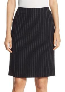 Armani Pinstripe Pencil Skirt