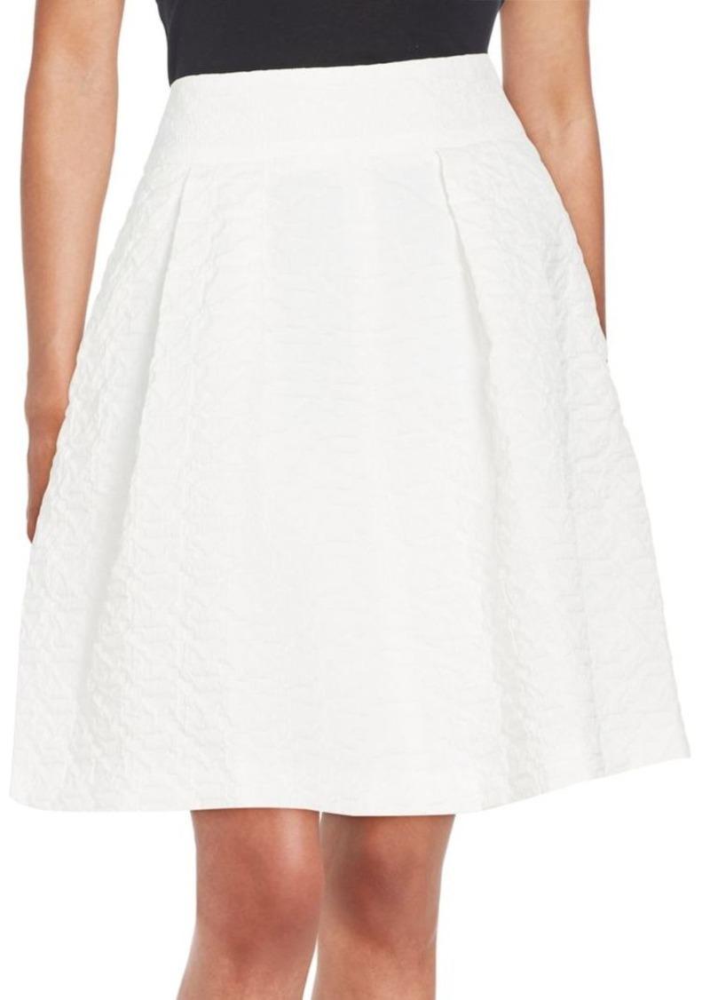 Armani Collezioni Pleated Jacquard Skirt
