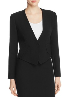 Armani Collezioni Pointed-Hem Wool Jacket
