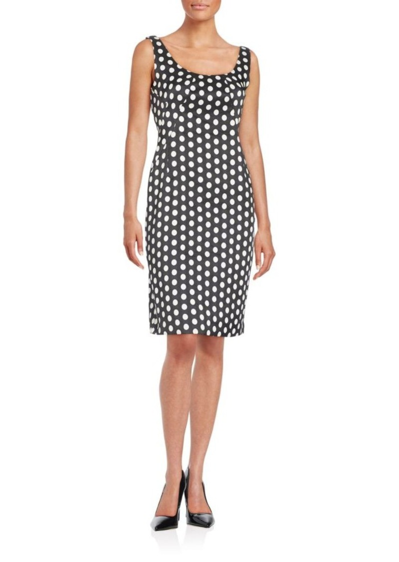 Armani Collezioni Polka-Dot Sheath Dress