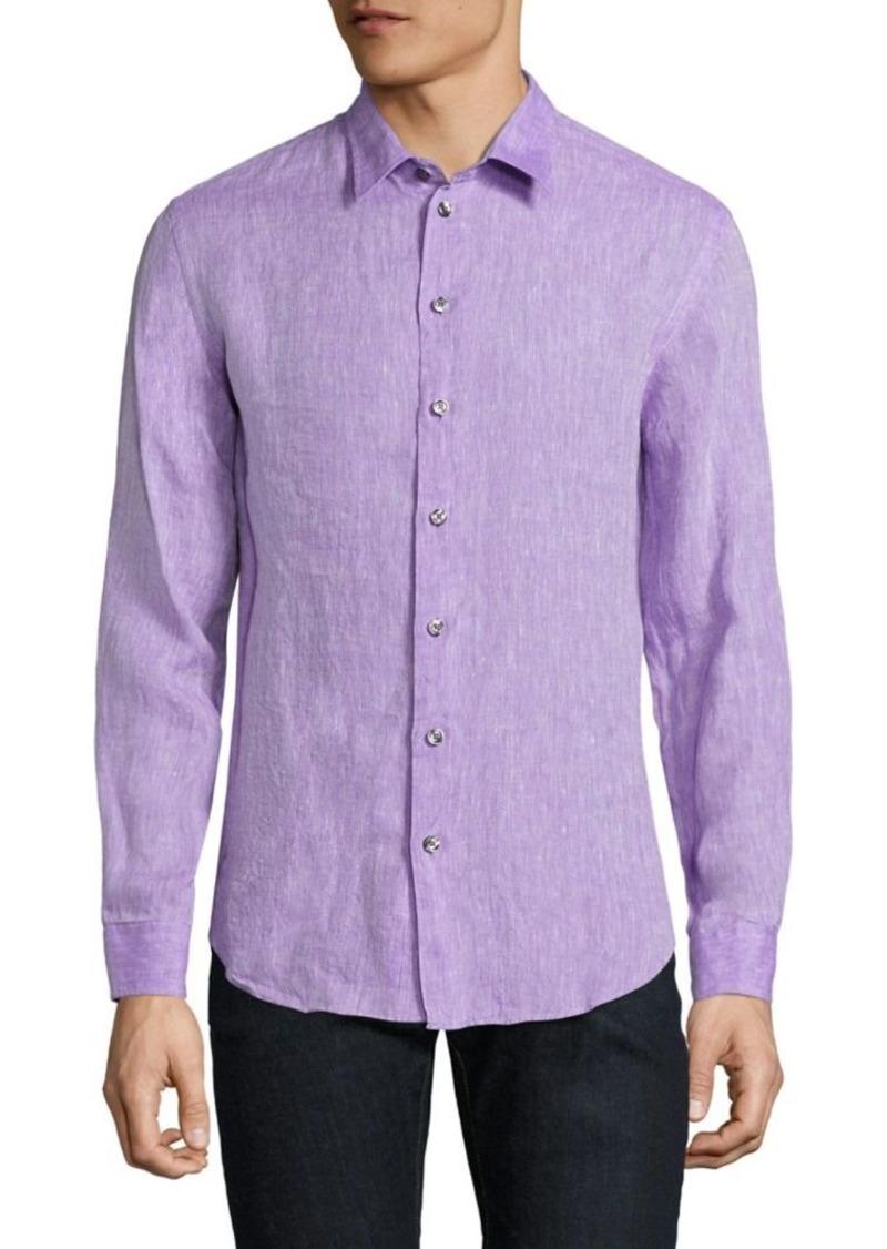 Armani Collezioni Regular-Fit Linen Shirt