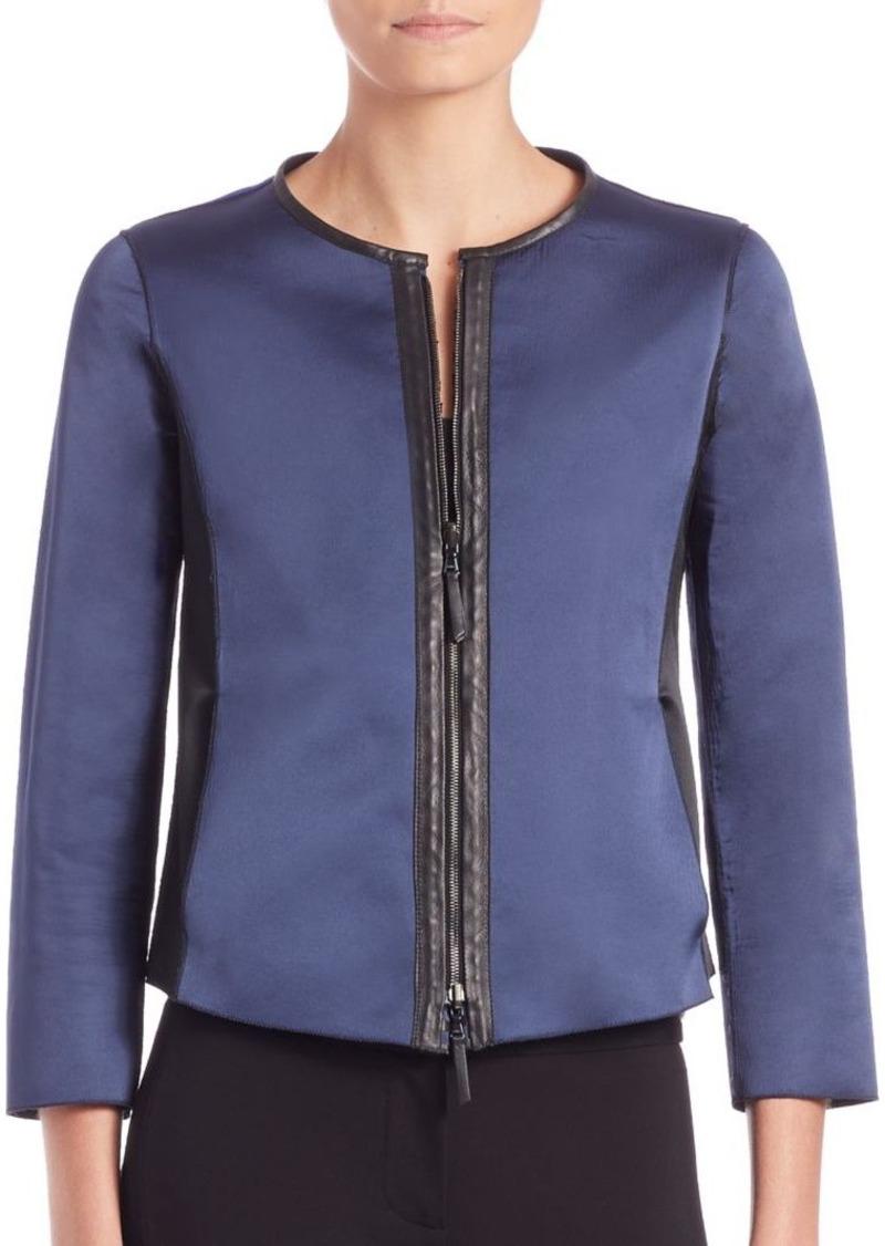 Armani Collezioni Reversible Leather Jacket
