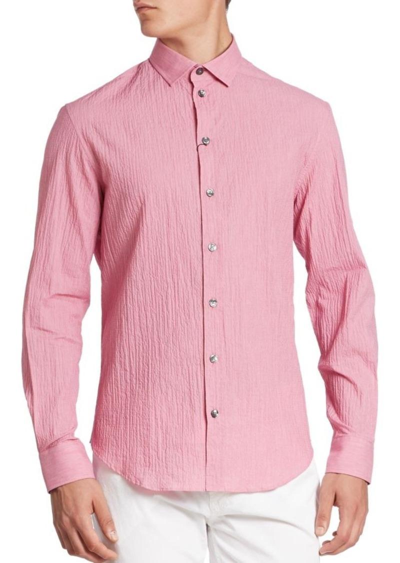 Armani Collezioni Seersucker Stretch Sport Shirt