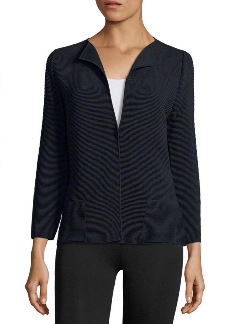 Armani Collezioni Single-Button Piped Jacket