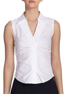 Armani Ruched Poplin Blouse