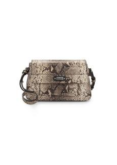 Armani Snake-Print Leather Crossbody Bag