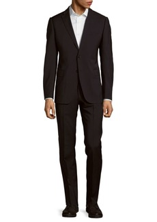 Armani Solid Fitted Woolen Suit