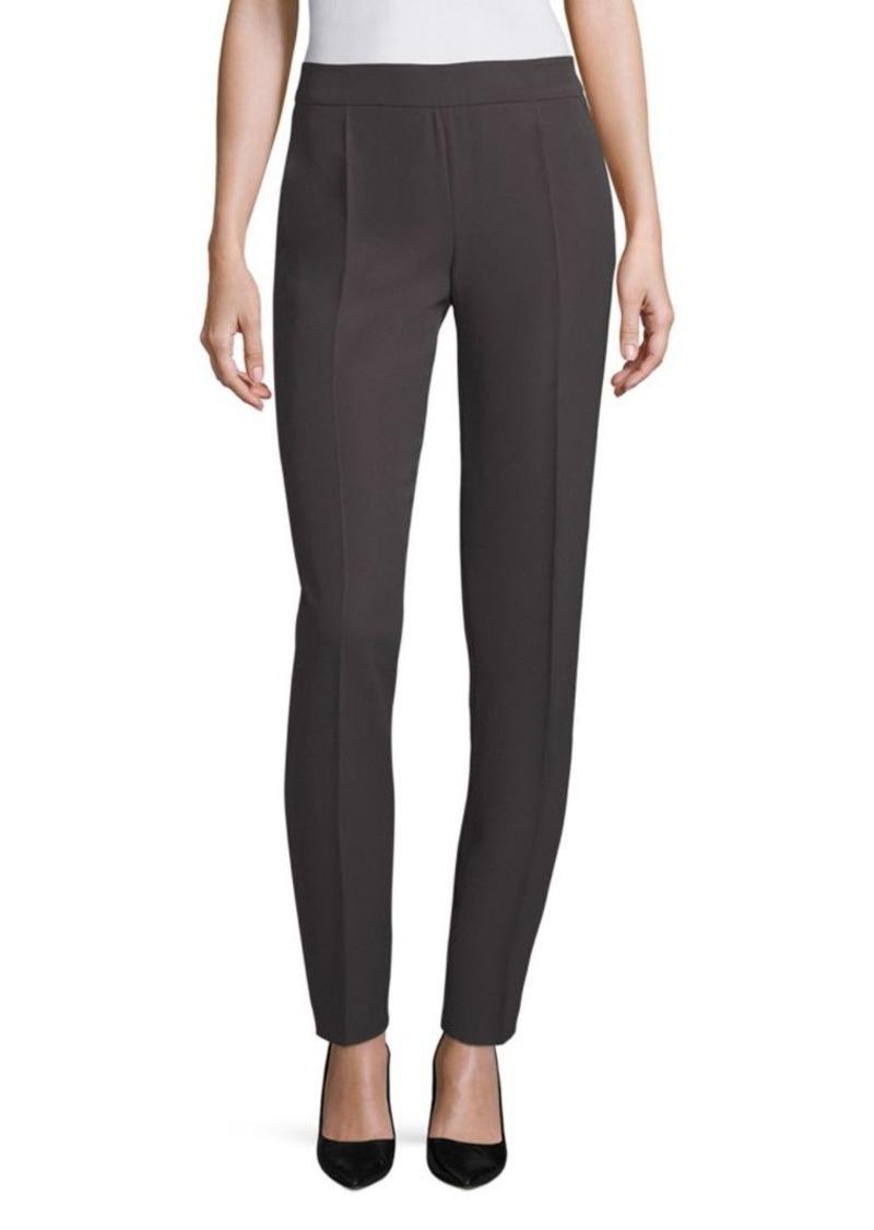 Armani Collezioni Solid Pleated Pants