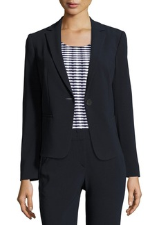 Stretch-Wool One-Button Jacket