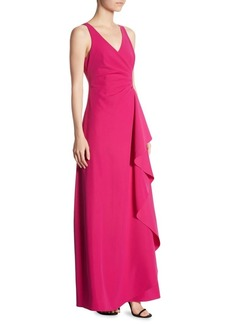 Armani Techno Cady Flutter Gown
