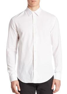 Armani Textured Jacquard Sport Shirt