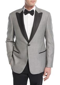 Armani Collezioni Textured Peak-Lapel Dinner Jacket