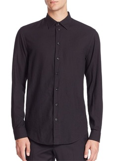 Armani Textured Button-Down Shirt