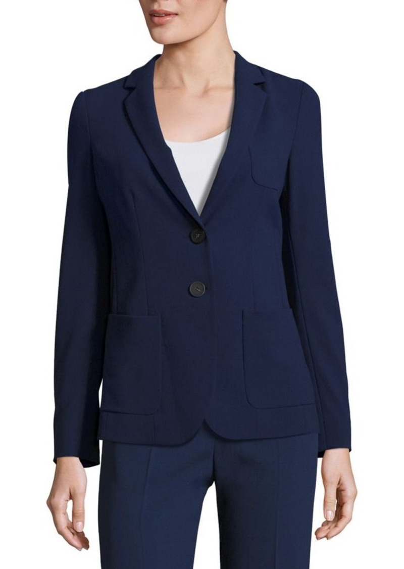Armani Collezioni Textured Two Button Jacket