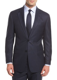 Armani Tonal Plaid Wool Two-Piece Suit