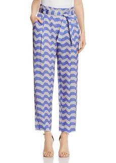 Armani Collezioni Wave Print Pants