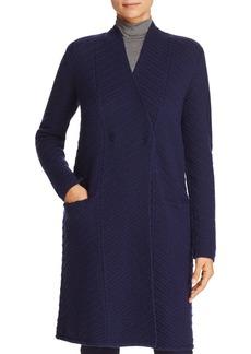 Armani Collezioni Wool & Cashmere Chevron-Pattern Coat