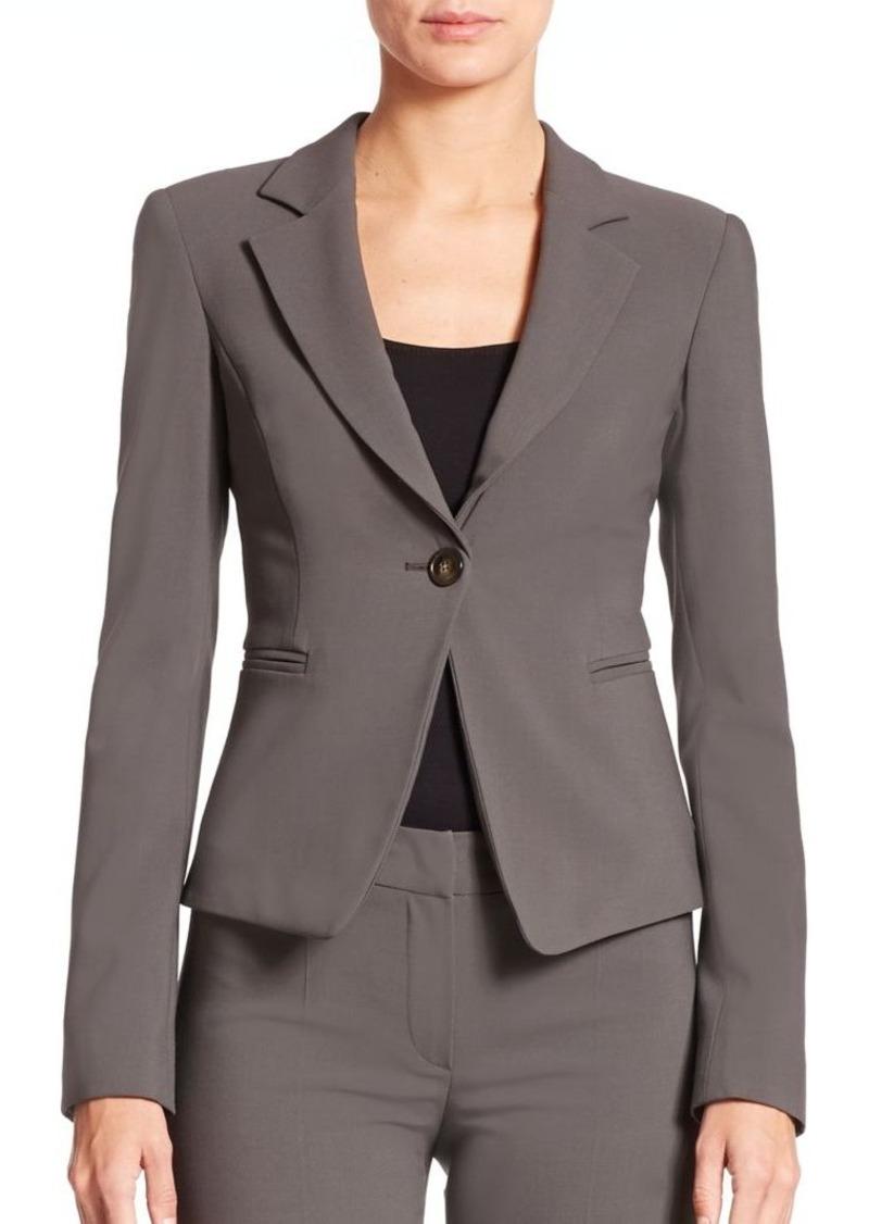 Armani Collezioni Wool One-Button Jacket