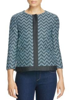 Armani Collezioni Zig Zag Tweed Jacket