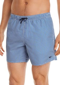 Armani Geometric-Print Swim Shorts