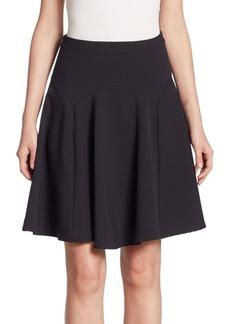 Armani Fluted Wool Skirt