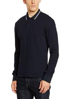 Armani Jeans Men's Slim Fit Long Sleeve Pique Polo Shirt