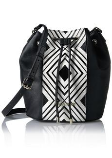 Armani Jeans London Printed Bucket Bag