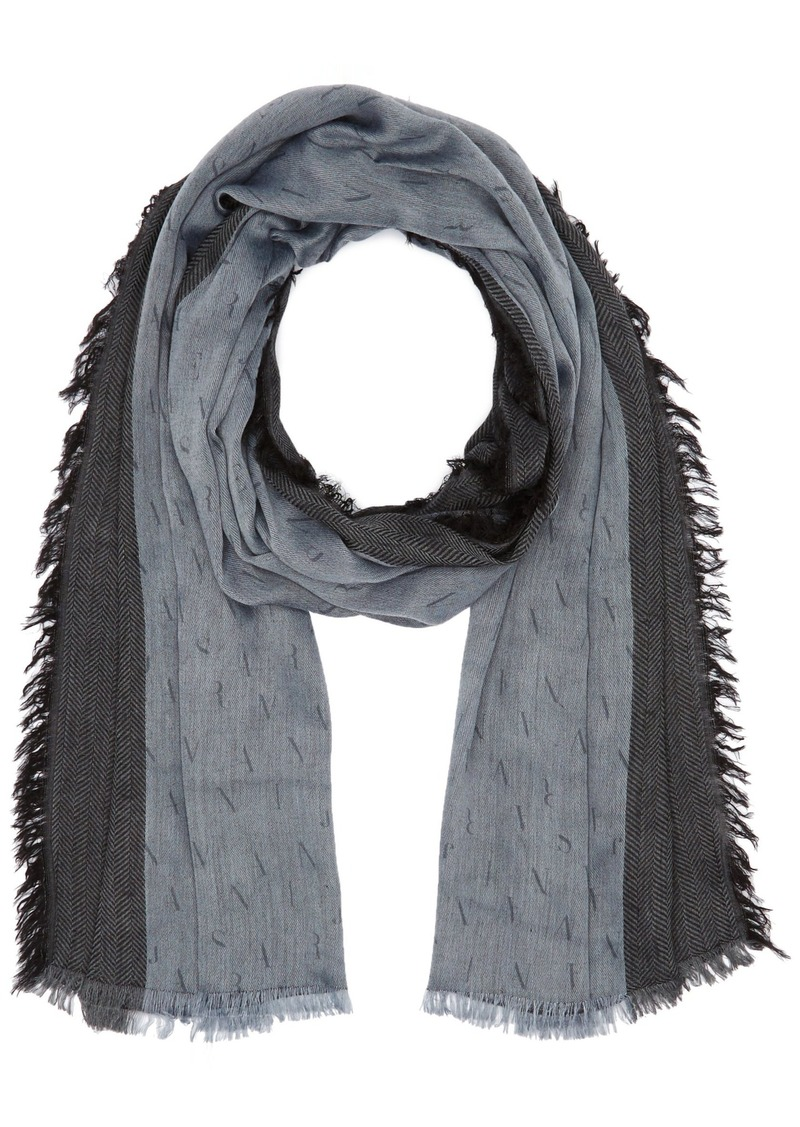 Armani Jeans Men's All Over Eagle Print Scarf