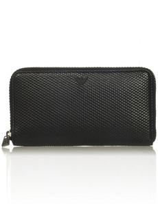 Armani Exchange Men's Embossed Bifold Wallet Black ONE Size
