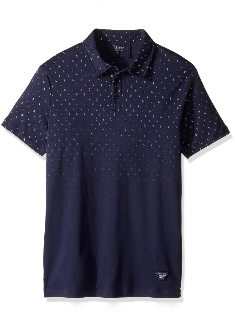 Armani Armani Jeans Men 39 S Faded Letters Polo Shirt L