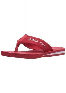 ARMANI JEANS Men's Flip Flop Flat Sandal RED 43 EU/10 M US