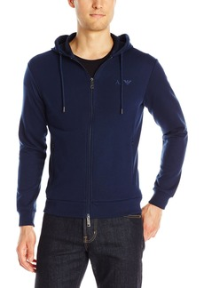 ARMANI JEANS Men's Full Zip Mock Neck T-Shirt  3XL