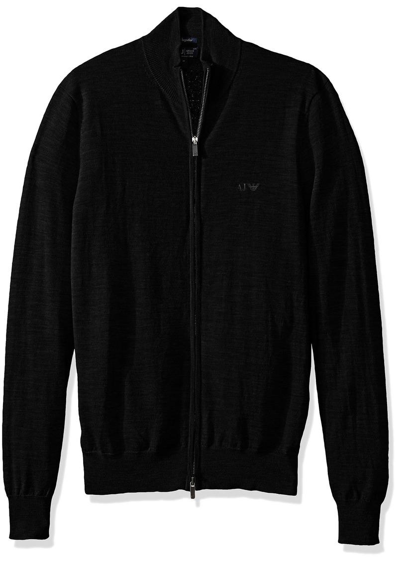 Armani Jeans Men's Full Zip Mock Neck T-Shirt  M