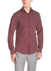 Armani Jeans Men's Geometric Print Long Sleeve Button Down Shirt  S