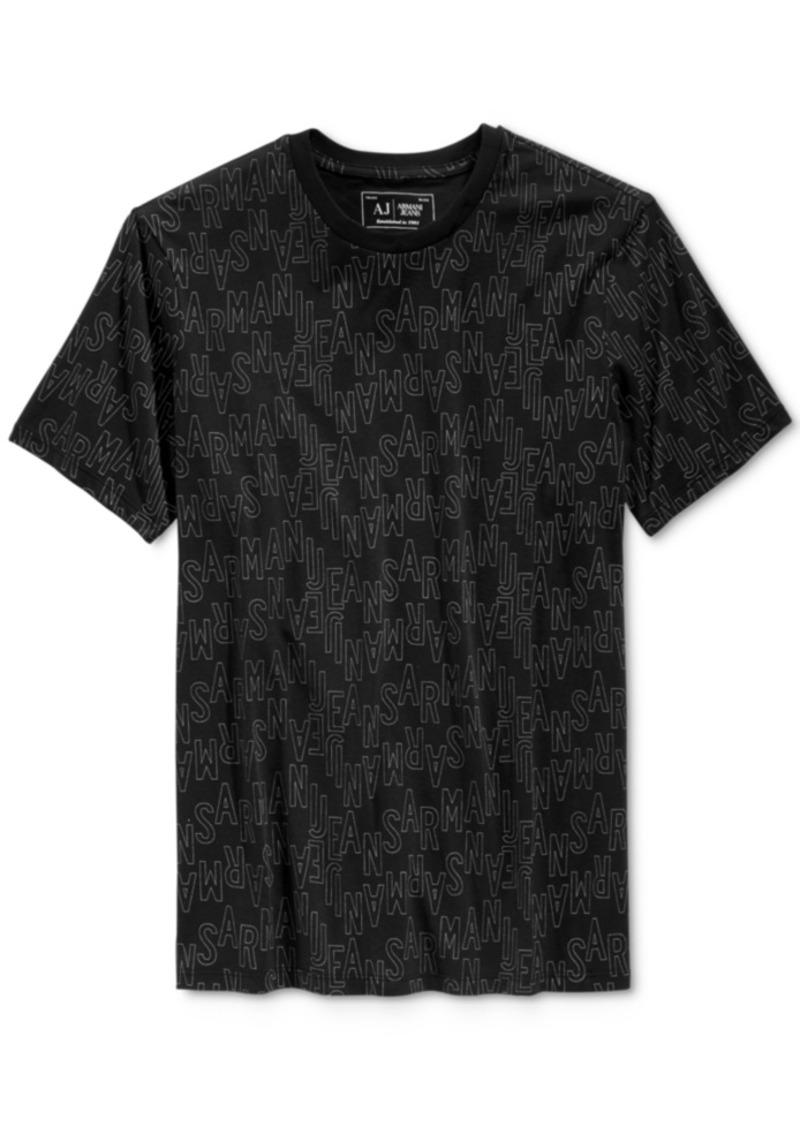 Armani Jeans Men's Graphic-Print Logo T-Shirt