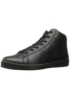 ARMANI JEANS Men's Leather High Top Sneaker Fashion