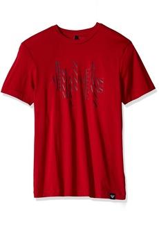 ARMANI JEANS Men's Plus Size Block Letter Eagle Design Cotton T-Shirt