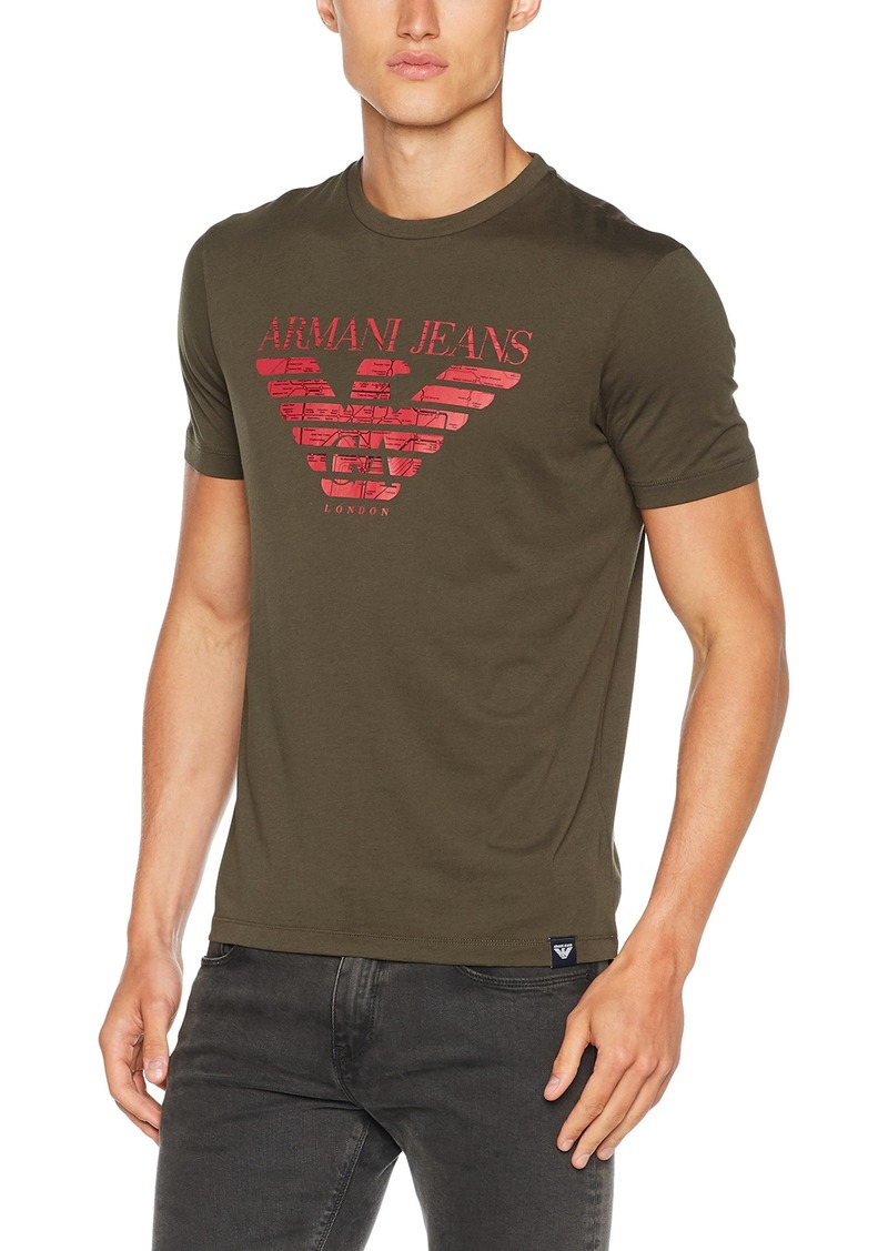 ARMANI JEANS Men's Plus Size Pima Cotton Eagle Logo Tshirt