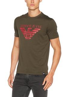 ARMANI JEANS Men's Plus Size Pima Cotton Eagle Logo Tshirt