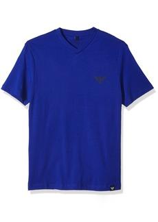 ARMANI JEANS Men's Plus Size Side Logo T-Shirt Blue/Bl
