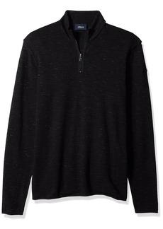 ARMANI JEANS Men's Plus Size Slub Effect Knit Shirt