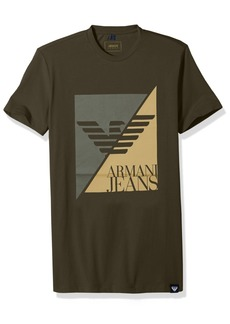 ARMANI JEANS Men's Plus Size Split Eagle Logo Tshirt