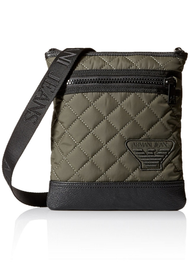 1b7b7d838d2f Armani Exchange Armani Jeans Men s Quilted Crossbody Bag Now  107.91